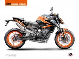 Kit Déco Moto Storm KTM Duke 790 Orange Bleu