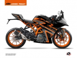 KTM 390 RC Street Bike Storm Graphic Kit Black Orange