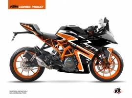 KTM 390 RC Street Bike Storm Graphic Kit Orange Black