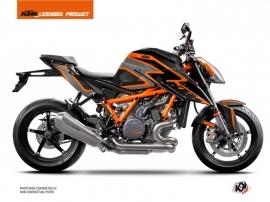 KTM Super Duke 1290 R Street Bike Storm Graphic Kit Black Orange