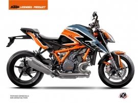 KTM Super Duke 1290 R Street Bike Storm Graphic Kit Orange Blue