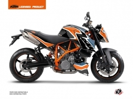 KTM Super Duke 990 Street Bike Storm Graphic Kit Orange Blue