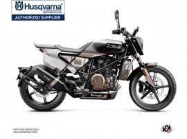 Kit Déco Moto Straight Husqvarna Svartpilen 701 Marron Blanc