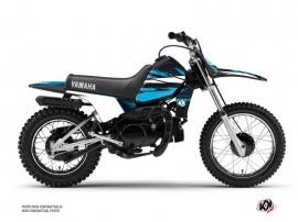 Yamaha PW 80 Dirt Bike Techno Graphic Kit Blue