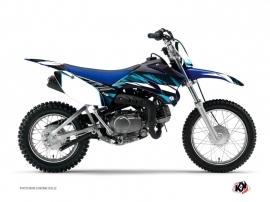Kit Déco Moto Cross Techno Yamaha TTR 110 Bleu