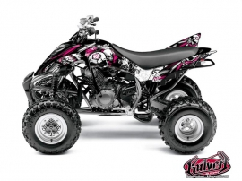 Yamaha 350 Raptor ATV Trash Graphic Kit Black Pink