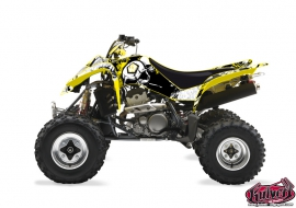 Suzuki 400 LTZ ATV Trash Graphic Kit Black Yellow