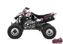Suzuki 400 LTZ ATV Trash Graphic Kit Black Pink