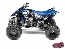 Yamaha 450 YFZ R ATV Trash Graphic Kit Black Blue