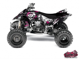 Yamaha 450 YFZ R ATV Trash Graphic Kit Black Pink
