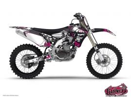Yamaha 450 YZF Dirt Bike Trash Graphic Kit Black Pink