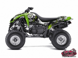 Kawasaki 700 KFX ATV Trash Graphic Kit Black Green