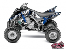 Yamaha 700 Raptor ATV Trash Graphic Kit Black Blue