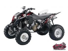 Honda 700 TRX ATV Trash Graphic Kit Black Red