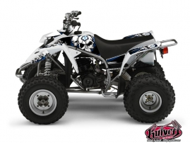 Yamaha Blaster ATV Trash Graphic Kit Black Blue