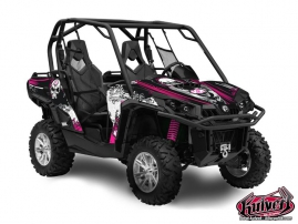 Can Am Commander UTV Trash Graphic Kit Black Pink