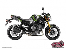 Yamaha FZ 8 Street Bike Trash Graphic Kit Black Green