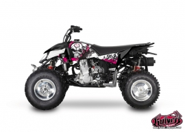 Polaris Outlaw 450 ATV Trash Graphic Kit Black Pink