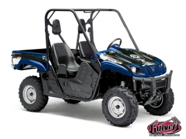 Yamaha Rhino UTV Trash Graphic Kit Blue