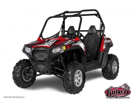 Polaris RZR 570 UTV Trash Graphic Kit Black Red