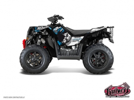 Polaris Scrambler 850-1000 XP ATV Trash Graphic Kit Black Blue FULL