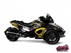 Can Am Spyder RS Roadster Trash Graphic Kit Yellow