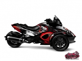 Can Am Spyder RS Roadster Trash Graphic Kit Red
