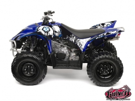 Yamaha 350-450 Wolverine ATV Trash Graphic Kit Black Blue