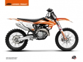KTM 250 SX Dirt Bike Trophy Graphic Kit Orange Blanc