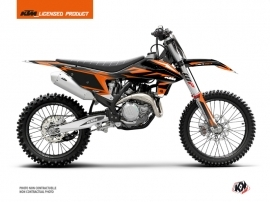 KTM 250 SXF Dirt Bike Trophy Graphic Kit Black Orange