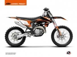 KTM 350 SXF Dirt Bike Trophy Graphic Kit Black Orange