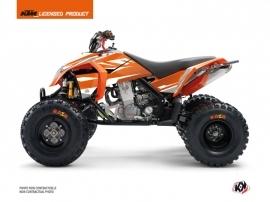 KTM 450-525 SX ATV Trophy Graphic Kit Orange White