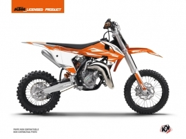 KTM 65 SX Dirt Bike Trophy Graphic Kit Orange White