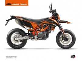 KTM 690 SMC R Street Bike Trophy Graphic Kit Black Orange