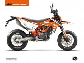 Kit Déco Moto Cross Trophy KTM 690 SMC R Orange Blanc