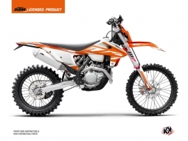 KTM EXC-EXCF Dirt Bike Trophy Graphic Kit Black Orange White