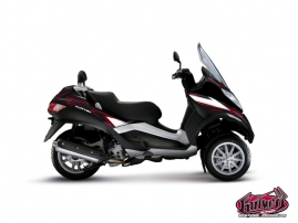 Piaggio MP3 Maxiscooter Velocity Graphic Kit Red