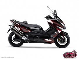 Yamaha TMAX 500 Maxiscooter Velocity Graphic Kit Red