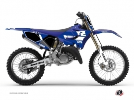 Yamaha 125 YZ Dirt Bike Vintage Graphic Kit Blue