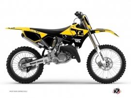 Yamaha 125 YZ Dirt Bike Vintage Graphic Kit Yellow