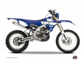 Yamaha 250 WRF Dirt Bike Vintage Graphic Kit Blue