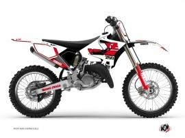 Yamaha 250 YZ Dirt Bike Vintage Graphic Kit Red