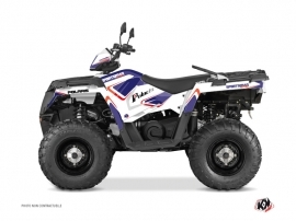 Polaris 570 Sportsman Touring ATV Vintage Graphic Kit Blue