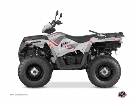 Polaris 570 Sportsman Touring ATV Vintage Graphic Kit Grey