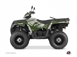 Polaris 570 Sportsman Touring ATV Vintage Graphic Kit Green