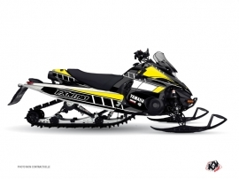 Yamaha FX Nitro Snowmobile  Vintage Graphic Kit Yellow
