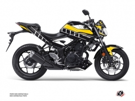 Yamaha MT 03 Street Bike Vintage Graphic Kit Yellow