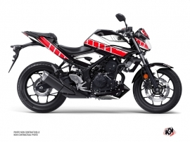 Yamaha MT 03 Street Bike Vintage Graphic Kit Red