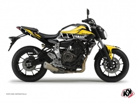 Yamaha MT 07 Street Bike Vintage Graphic Kit Yellow