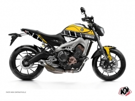 Yamaha MT 09 Street Bike Vintage Graphic Kit Yellow